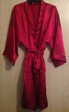 LADIES EX STORE RED SATIN DRESSING GOWN/ROBE UK SIZES - 8 to 22