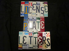 License Plate Letters Numbers Signs, Crafts, Decor, Etc.  FREE SHIPPING
