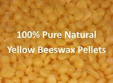 Yellow Beeswax Pellets-100% Pure and Natural-Finest UK Wax Pellets-FREE Shipping