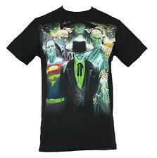Justice League (DC Comics) Mens T-Shirt - Alex Ross Villians Image Front  Black