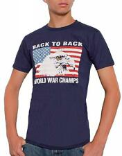 Eagle USA Back To Back World War Champs Champions Funny T-shirt S-3XL Navy