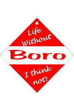 Middlesbrough Car/window signs / Personalised signs / slap-on magnets
