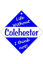 Colchester Car/window signs / Personalised signs / slap-on magnets
