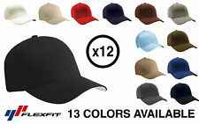 *12 PACK* Yupoong Flexfit 6277 Wooly Combed Twill Cap Hat *13 COLORS* Blank BULK