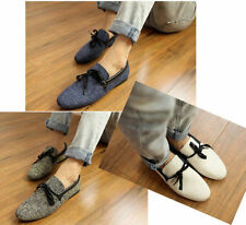 Hot!!!!!! Mens Canvas Casual Lace Slip On Loafer Shoes Moccasins Driving Shoes