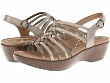 SALE! Womens Dansko Dana Full Grain Metallic Multi Leather Sandals 37,39,41 NEW!