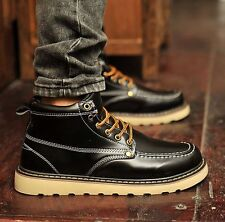 Fashion New Men's high top ankle boots British Style Casual waterproof shoes