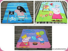 Fun Peppa Pig Rug / Throw / Blanket 3 Designs George Pig 160x125cm Great price
