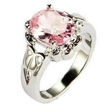 Copper Platinum Plated Women's Fashion Figure Rings Claw Cubic Zirconia Gift