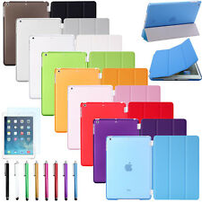 Slim Magnetic Leather Smart Cover with Hard Back Case For Apple iPad Sleep/Wake