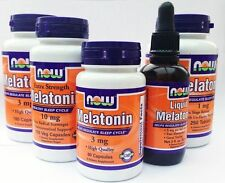 Melatonin Now Foods 1mg,3mg,10mg,Capules,Tablets  WORLDWIDE SHIPPING From The UK
