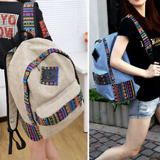Women Girl Canvas Backpack Rucksack Satchel Shoulder Bag Travel School Book Bag