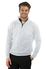 Mens/Ladies Quarter Zip Sweat Jacket, Size XS to XXXL, Colour Heather Grey