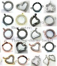 One  Floating Living  Memory Glass Magnetic Locket of different styles