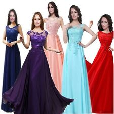 Wedding Prom Lace 1 Bridesmaid Model Beaded Formal Evening Gowns Dress Cocktail