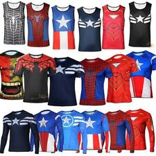 Mens Compression Under Base Layer Sports Wear Running T-Shirts Tights Costume