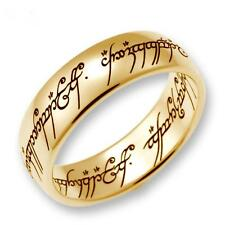 "Original Lord Of The Rings Jewelry ""The One Ring"" Gold 333 Polished"