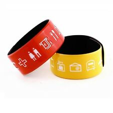Alfie Design Language Bangle Easy Symbols for Travel,  Bangles in Choice Colours