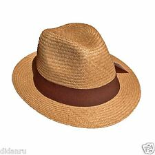 HAND WOVEN TRILBY FEDORA PANAMA HAT 100% AUTHENTIC ORGANIC AS J.CREW