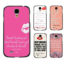 Marilyn Monroe's Quote With Hot Red Lip On Hard Case For Samsung Galaxy S3 S4 S5
