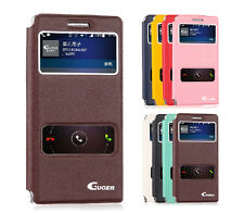 Original Guoer S-VIEW Windows Flip Leather Stand Case Cover For Huawei Ascend P6