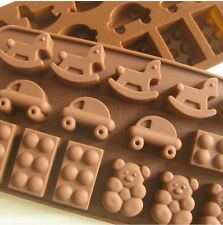 Car and Bear Silicone Mold Cake Moulds Soap Molds Baking Mold Bakeware