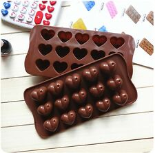 Heart Shape Mini Silicone Muffin Ice Cube Chocolate Cake Jelly Mold Tray Candy