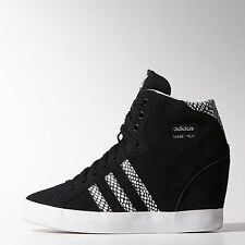 NEW ADIDAS WOMENS ORIGINALS BASKET PROFI UP WEDGE  [M20837]  BLACK//WHITE-BLACK