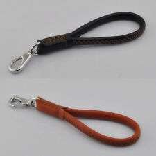"""Black Brown 12"""" Leather Dog Short Leash Lead Heavy Duty For Large Dog"""