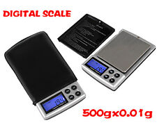 New Portable Digital Pocket Weighing Balance100g/200g/300g/500g/1000g 0.01g 0.1g