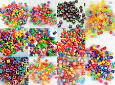 200 Various Mixed Alphabet Letter Charms Bead Rainbow Rubber Loom Bands Bracelet