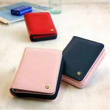 Korea Women Faux Leather Crown Zipper Short Ladies Purse Wallet Fashion Gift