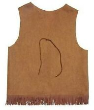 Copper Adventure Y Guide YMCA Indian Princess Tribe Vest Scout Cowboy Fringe
