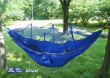 2 Person Parachute Hammock 51'' Double Wide Solid Outdoor Patio Yard Camping