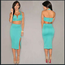 Sexy Hot!new style women 2-pieces Bandage Clubwear Party Outfit Bodycon Dress