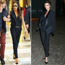 Victoria Beckham Style New Fashion Women Slim Fit Office Jumpsuits Party Rompers