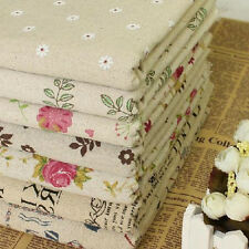Cotton Linen Print Rural Floral Fabric DIY Table Cloth Curtain Sewing 11patterns