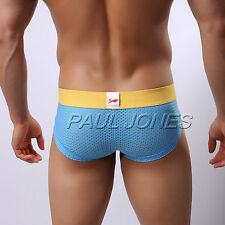Big Sale! New Sexy Men's Underwear Mesh Briefs Shorts Bottom UnderpantsTrunks
