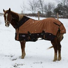 Derby Platinum 18 OZ Canvas Horse Stable Winter Blanket 3 Gussets & Wool Lining