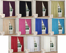 NEW THERMAL BACKED LIGHT REDUCING READY MADE CURTAINS IN 11 COLOURS ALL SIZES