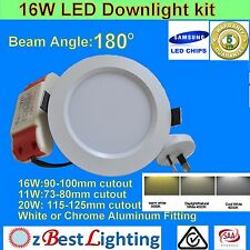 11W/16W 180° Dimmable or non-Dim LED Downlight Kit -Warm /Daylight or Cool White