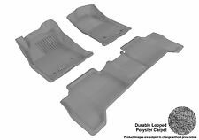 3D MAXpider GRAY Carpet Floor Mats for Toyota Tacoma Double Cab - L1TY09002201