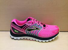 Women's Brooks Glycerin 12 Running Shoes - Brite Pink/Silver/Black - BRAND NEW