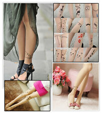 Personality Sexy Patterns Tattoo Pantyhose Bottoming Stockings Leggings Socks
