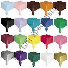"""OBLONG TABLECLOTH TABLEWARE - PARTY TABLE COVER 54""""x108"""" -MANY SOLID COLOURS!"""