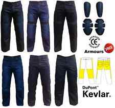 Mens Motorbike Motorcycle Bikers Jeans Trousers Pants with Protective Lining