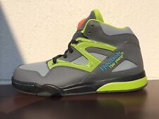 NEW BOYS YOUTH REEBOK PUMP OMNI LITE SNEAKERS-SHOES-GREY-VARIOUS SIZES SIZES