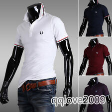 Men's Boys Summer Fashion Short Sleeve Casual Polo Shirts Lapel T-shirt Tee Tops