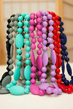 Mom & Baby Silicone Chew Necklace Jewelry Beads - FREE SHIPPING