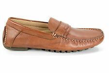 Calvin Klein Mens Shoes Dressy Mocassin Loafers Dante Soft Leather F0014 Tan